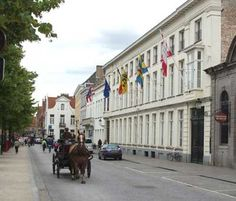 College d'Europe Bruges | Looking back from Our Lady's church towards Blinde Ezel Straat with ...