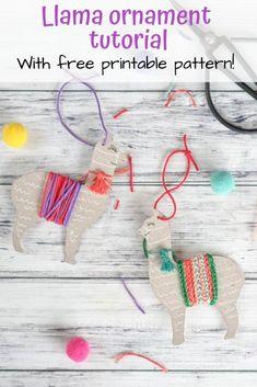 Homemade Christmas, Christmas Crafts, Christmas Ornaments, Christmas Parties, Christmas Stuff, Christmas Time, Christmas Ideas, Llama Christmas, Felt Christmas