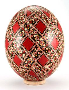 Pysanka.  Ukrainian Art Form. Pysanky Easter Eggs.