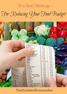 """Good advice! If you want to save money on groceries and reduce your food budget, this IS one """"best"""" way!"""
