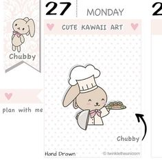 CB016  Cooking Planner Stickers Cooking Stickers Cooking