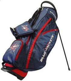 Golf Bags - Columbus Blue Jackets Golf Bag Get the very best in Golf Push Carts and More at http://bestgolfpushcarts.net/product-category/golf-push-carts/clicgear/