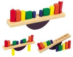 Wooden See Saw Sorter   S8006     Sensorial     Stack the shapes on opposite ends of the see-saw to create a balanced platform. Set is constructed with rounded corners, smooth edges and shapes fit snugly fit in routed holes. Promotes color and shape recognition, balancing, color-matching and sequencing.   $15.99