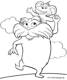lorax coloring pages to print | Free Printable Lorax Coloring Pages ...