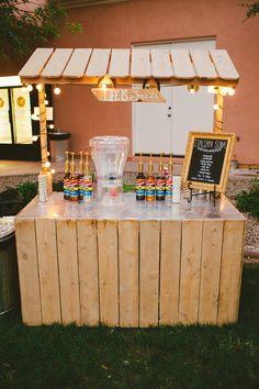 Italian soda bar at a wedding!