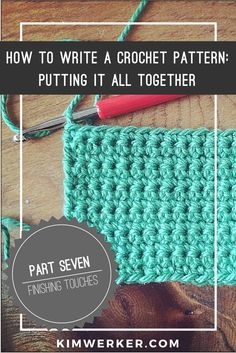Crochet Pattern Writer : How to Write a Crochet Pattern: The Numbers. How to treat ...