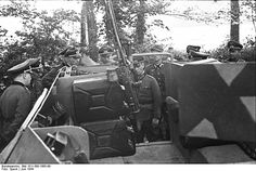 Rommel inspecting the German Panzer Division, Normandy, France, 30 May note vehicle-mounted machine gun Erwin Rommel, Field Marshal, Afrika Korps, Felder, Army Soldier, German Army, North Africa, Ww2, World War