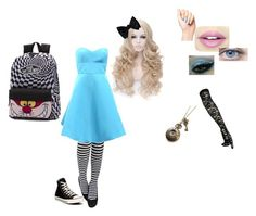 """""""Modern Alice"""" by gracewaterhole on Polyvore featuring Converse, Monique Lhuillier, Fiebiger, Vans and modern"""