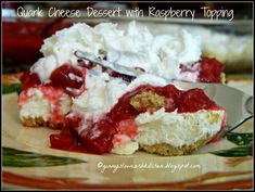 Ginny's Low Carb Kitchen: QUARK CHEESE DESSERT WITH RASPBERRY RHUBARB TOPPING  #provestra
