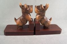 Black Forest Bookends Scottie Scotty Dogs Germany   S930  #fashion #Gifts #theoldjunktrunk #vintage