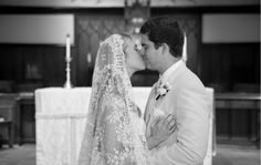 exquisite Italian veil passed down from the brides grandmother...amazing