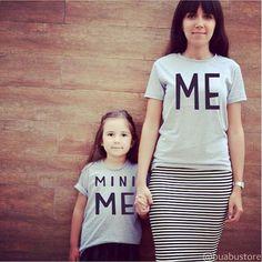 Para quem tem alguém que é sua miniatura.  #talmaetalfilha #me #minime #caradeumfocinhodooutro #camiseta #tshirt