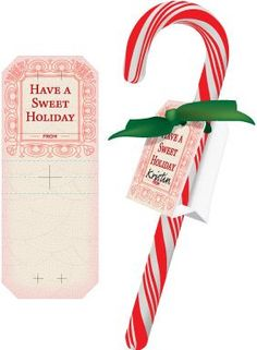 Classic Candy Cane Tag  http://www.dixiecrystals.com/kids-kitchen/projects/free-printables-gift-tags-place-cards1/Free-Christmas-Printables