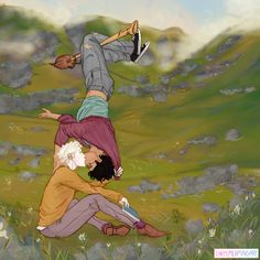 carpemermaid does art (sometimes) - A little year, lazy afternoon Drarry in the Scottish highlands for my submission - Harry Potter Feels, Harry Potter Comics, Harry Potter Draco Malfoy, Harry Potter Ships, Harry Potter Jokes, Harry Potter Fan Art, Harry Potter Universal, Harry Potter Fandom, Harry Potter Hogwarts