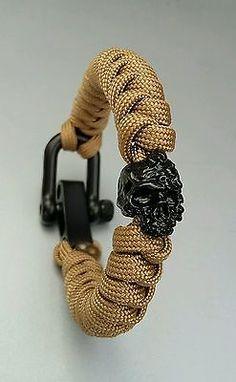 Quirky Skeleton Paracord Keyring *Fun Gift* Gothic Biker EDC Prepper Survival