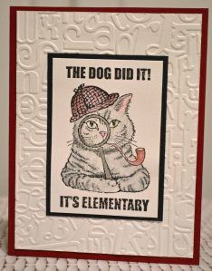 Roberta Wax is blogging with our Sherlock Kitty today! What a darling card! #cre8time