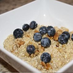 If you're tired of oatmeal or simply want to pump up your protein during breakfast, try this quinoa dish. This delish recipe is loaded with fiber and vitamins and minerals. Talk about a breakfast of champions!