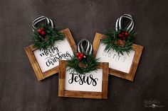 Nothing can beat homemade Christmas Ornaments & Christmas Crafts. Here are easy DIY Christmas Ornaments to make your Christmas Decorations feel personal. Music Christmas Ornaments, Personalized Christmas Ornaments, Diy Christmas Ornaments, Diy Christmas Gifts, Christmas Ideas, Christmas Signs, Country Christmas, Diy Christmas Frames, Farmhouse Christmas Trees