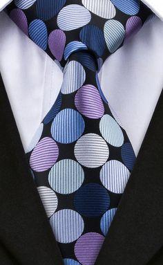 DQT Woven Plain Solid Check Ivory Men/'s Slim Tie Hanky Cufflinks Set