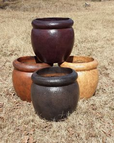 """Lightweight Pottery Small Size 22""""W x 22""""H 17 lbs. Item# 2000  Custom Colors Available Shown In Antique Terracotta, Antique Burgundy, Antique Espresso, Restrained Gold Faux Finish"""