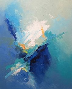Abstract Painting 24301 by Martin Figlinski Acrylic ~ 30 x 24