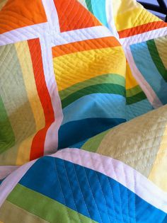 bright solids and cool quilting
