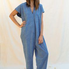 Miranda Bennett : Jumpsuit - Silk Noil - Indigo