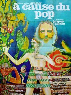 """trés rare affiche originale de 1971...il s'agit d'un """"documentaire"""" réalisé par """"Daniel Szuster"""" sur un festival de musique qui c'est passé à Aix en provence...les dilogues sonr de """"Jacques Higelin"""" ...le visuel de cette affiche est aussi trés Psychédélique !!...à vois sur mon site affichepostercine..."""