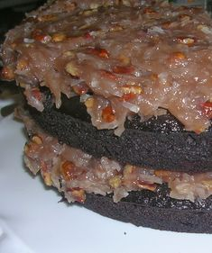 Ecovillage Musings: Vegan German Chocolate Cake OR, How to be Happy While Quitting Smoking