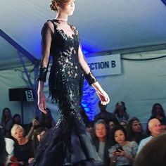 Gorgeous black dress - on the runway at FashioNXT. #fashionxt #flairwalk #pearlportland #flairwalkboutiqueportland #fashionxtonline