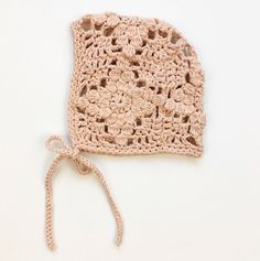 Hand Crocheted Organic Cotton Bonnet | jharlowandco on Etsy