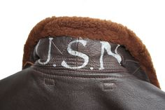 USN ( United States Navy ) motif on reverse of my own G1 Flight Jacket collar