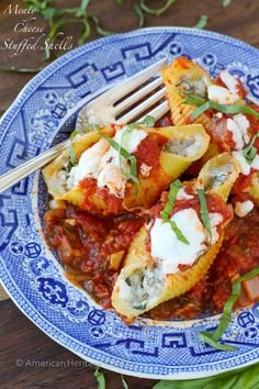Lightened up Meaty Cheese Stuffed Shells! They are easier and healthier than you think!