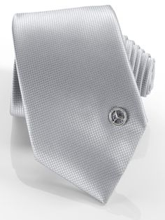 Tie pin B66951664 Tie with pin.Silver-coloured.100% easy-care microfibre.  Fine square pattern. Star logo stud.Made in Italy.  Size: 150 cm long, 7.5 cm wide.