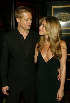 Jennifer Aniston & Brad Pitt - Premiere Of Troy. May 10, 2004