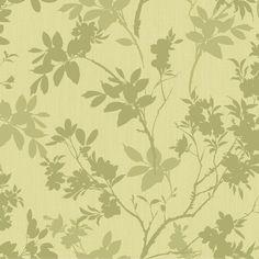 Divine Motif Floral Green Shimmer Effect Wallpaper | Departments | DIY at B&Q