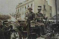 Vicente Blasco Ibáñez en el año 1921. Calle Mediterráneo nº 31. Fotografía  subida al foro Remember Valencia, entrada 25649.