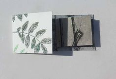Original Tiny botanical Monoprint artist book Keepsake by Stef Mitchell Ash leaves Stems & Stalks Unique floral nature gift made with love Monoprint Artists, Liverpool, Ash Leaf, Art Blanc, Meadow Flowers, Book Markers, Galleries In London, Nature Prints, International Artist