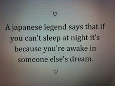 someone must be dreaming about me A LOT.