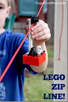 Lego Zip Line! This is such a fun, hands on STEM science activity for kids to learn and explore as a summer activity for kids.
