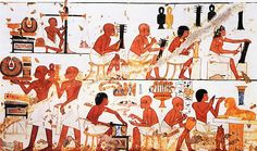 Goldsmiths at Work | Unknown | 1411-1375 BCE | wallpainting (detail) | Tomb 181, Valley of the Nobles, Sheikh Abd el-Qurna, Egypt.