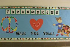 Miss Mimi's Musings: School Counseling Snippets That Bring a Smile!: Peace and Love! Counseling Bulletin Boards, Library Bulletin Boards, School Library Displays, School Counselor, Character Development, Primary School, Peace And Love, Board Ideas, Classroom