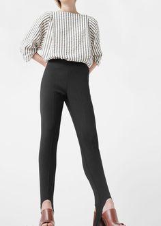 Premium - wollen fuseau broek - Broeken voor Dames | MANGO België