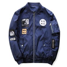 cc12a448536 M 2017 New Men Bomber Jacket Hip Hop Patch Designs Slim Fit Pilot Bomber  Jacket Coat Flight Air Force Army Green Polo Men Jacket