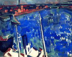 'Martigues', öl auf leinwand von André Derain (1880-1954, France)