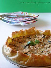 receita de torta de abobrinha, mussarela de búfala e tomate
