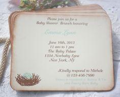 Invitation  Baby Shower  Birthday  Customized  by ShabbyPeaDesigns, $22.50