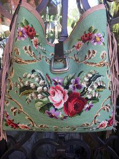 Diy Bags Purses, Purses And Handbags, Denim Tote Bags, Ralph Lauren, Tapestry Bag, Handmade Purses, Boho Bags, Patchwork Bags, Little Bag
