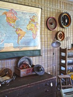 Foundry Molds, Vintage Map