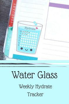 Cute water tracker for bujo. :) #bullet #journaling #bujo #bujoinspire #ad #tracker #sticker